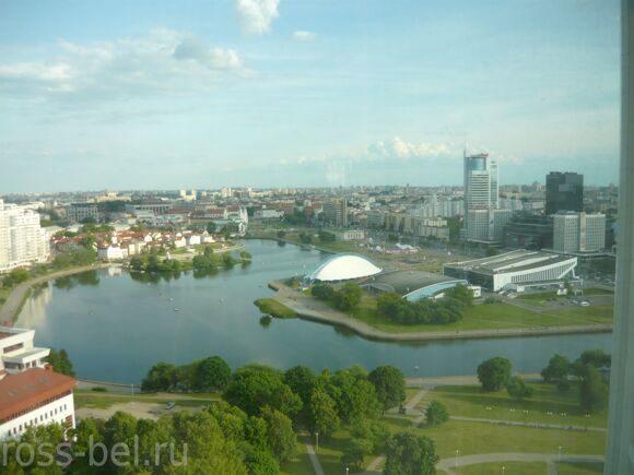 20 Минск вид из гостиницы Беларусь