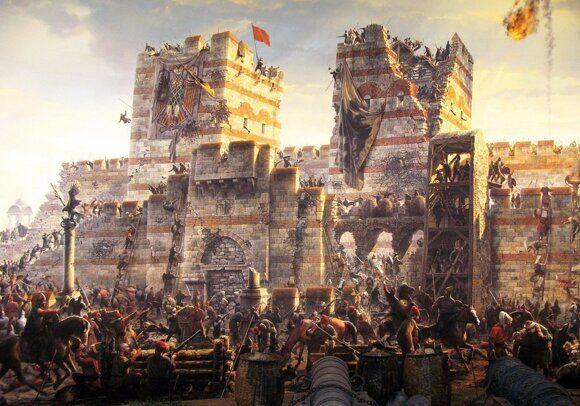 Осада турками Константинополя
