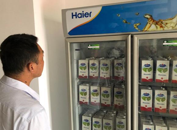 В магазине представлена молочная продукция белорусских производителей