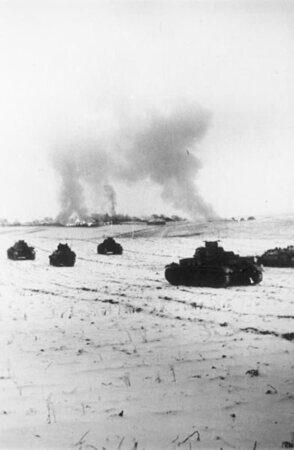 Немецкие танки под Москвой