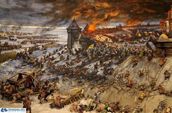 Осада монголами русского города