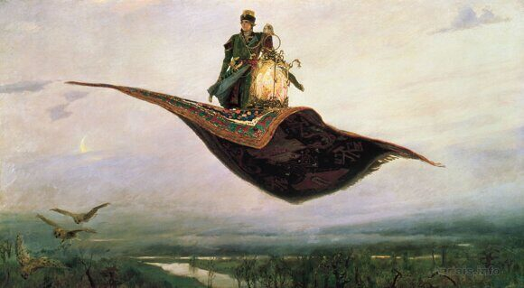 Картина Виктора Васнецова «Ковёр-самолёт» и свой взгляд на сюжет Сэндоу Бирка.