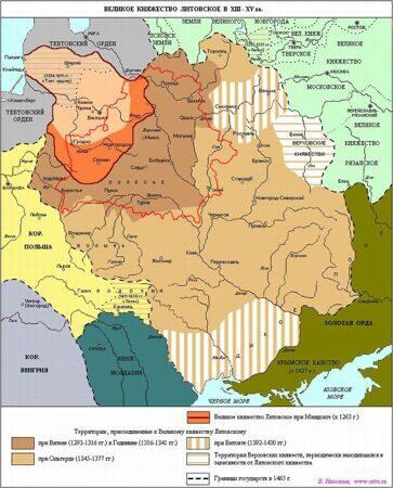 Границы ВКЛ при Витовте